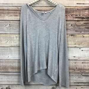 GAP Bell Sleeve Pullover Sweater Hooded M Gray